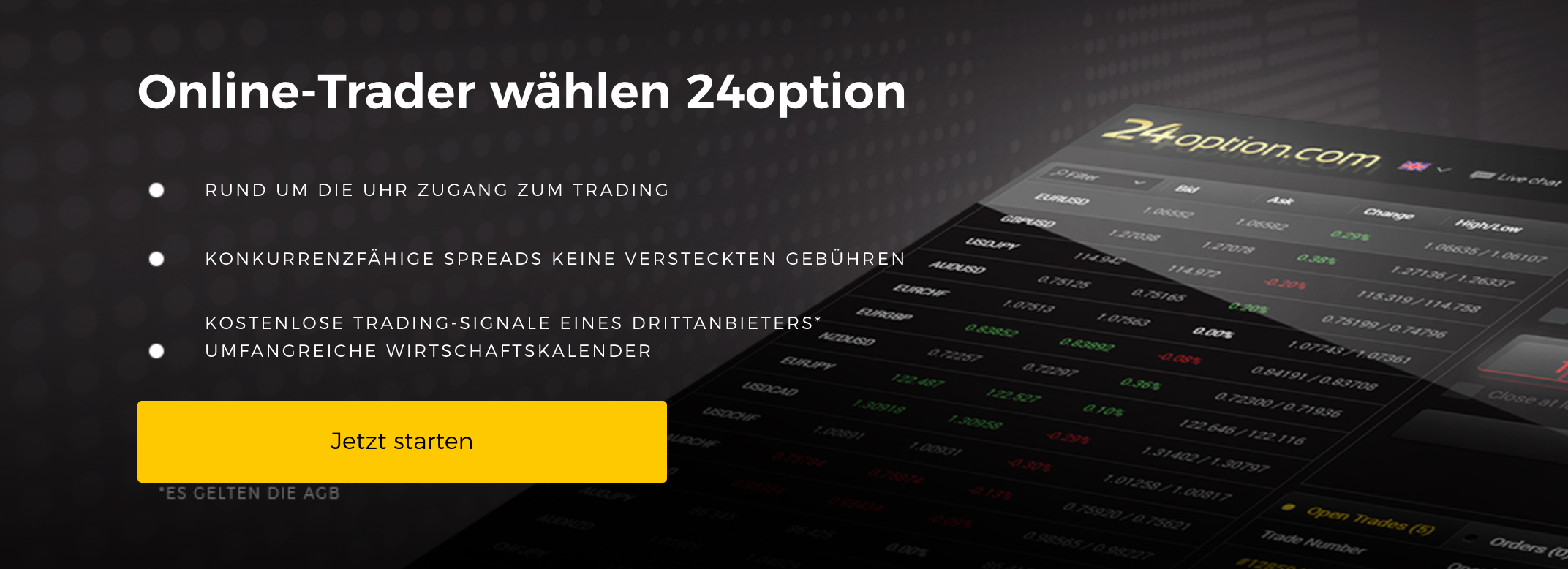 Die 24option Website