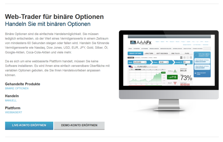 Der Web-Trader für Binäre Optionen im Überblick