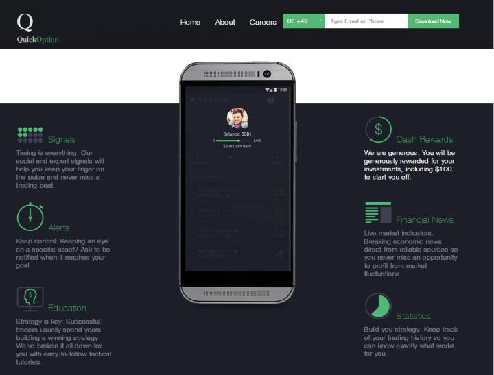 Zusatzangebote der Quick Option App