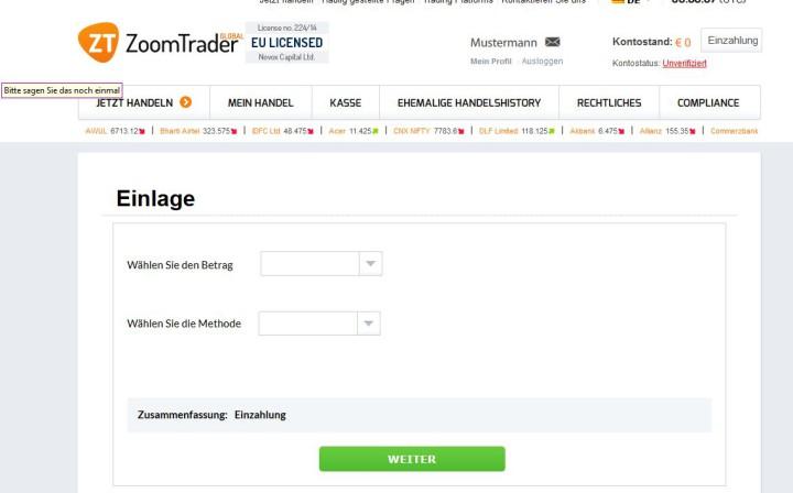 Binäre Optionen Demokonto Ohne Registrierung