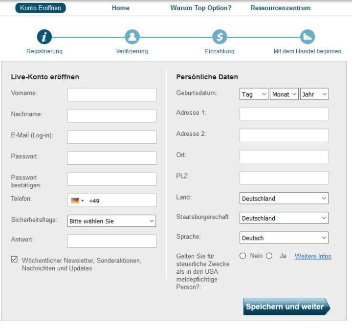 Binare optionen testkonto demo ohne registrierung