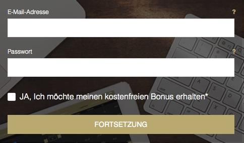 Per Online-Formular ein Handelskonto eröffnen