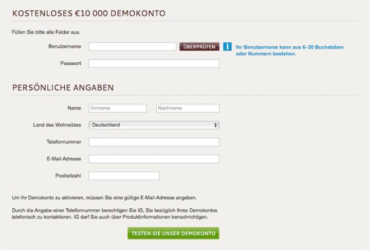 Ig index forex demo account