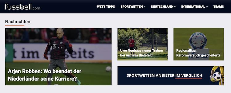 Fussball.com Webseite